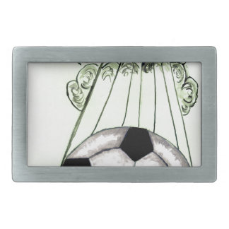 Soccer Ball Sketch 5 Rectangular Belt Buckle