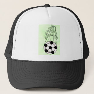 Soccer Ball Sketch 5 Trucker Hat