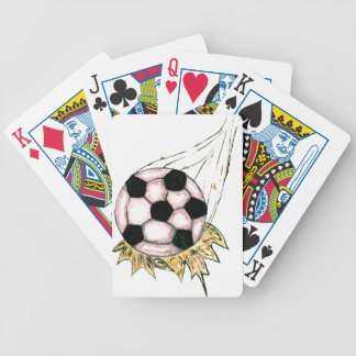 Soccer Ball Sketch Bicycle Playing Cards