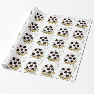 Soccer Ball Sketch Wrapping Paper