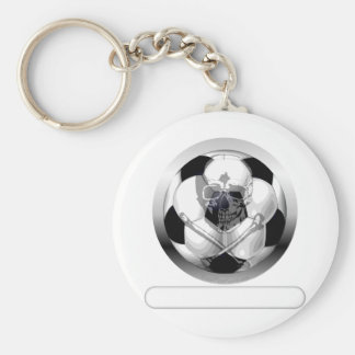 Soccer Ball Skull and Crossbones Keychain