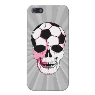 soccer ball skull head girl pink accents cover for iPhone 5/5S