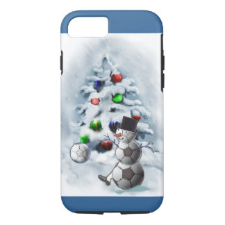 Soccer Ball Snowman Christmas iPhone 7 Case