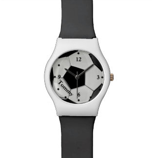 Soccer Ball Sports Custom Watch