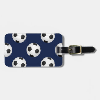 Soccer Ball Sports Pattern Luggage Tag