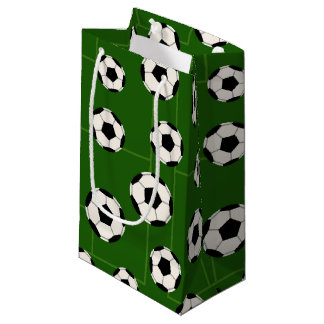 Soccer ball sports pattern party bag