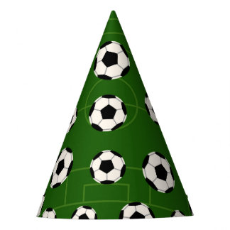 Soccer ball sports pattern party fun hat