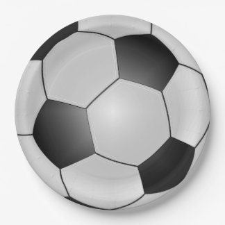 Soccer Ball Sports Plates