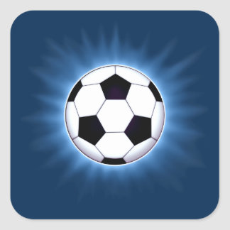 Soccer Ball Square Stickers