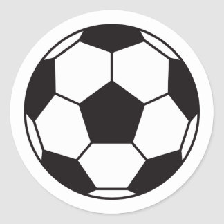 Soccer ball stickers with custom color background