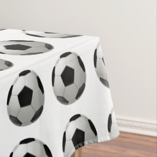 Soccer ball tablecloth