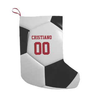 Soccer Ball Texture Personalized Stocking
