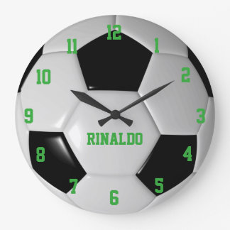 Soccer Ball Texture Personalized Wall Clock