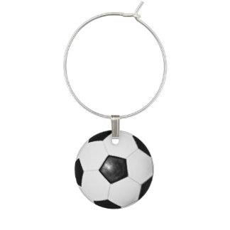 Soccer Ball Theme Adult Party Ideas Wine Glass Charm
