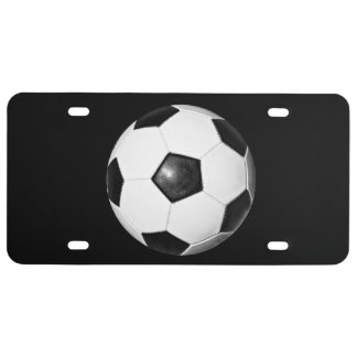 Soccer Ball Theme License Plate