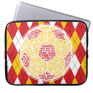 Soccer Ball Typography Laptop Sleeve