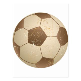 soccer ball vintage postcard