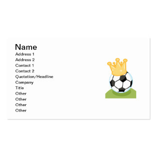 Soccer Ball Wearing Crown T-shirts and Gifts Business Cards