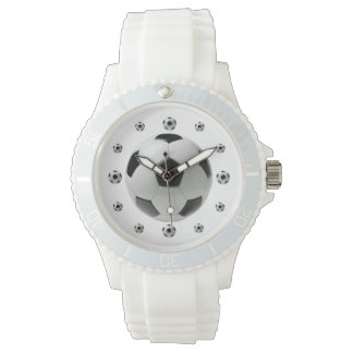 Soccer Ball White Sporty Watch