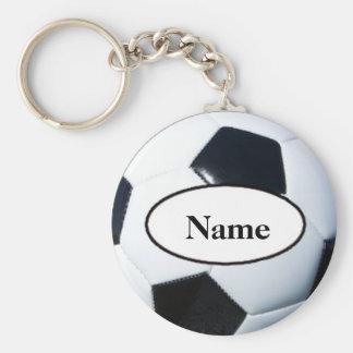 Soccer ball with your on it désagréable porte-clé rond
