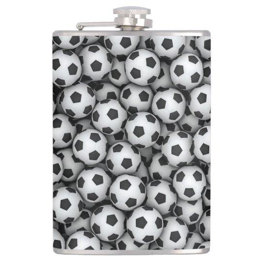 Soccer Balls 8 oz Vinyl Wrapped Flask