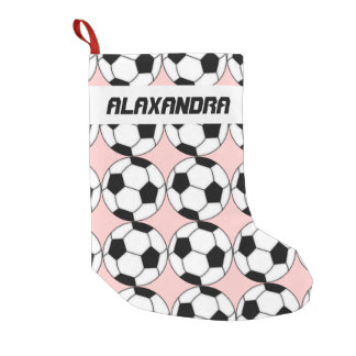 Soccer Balls Christmas Stocking
