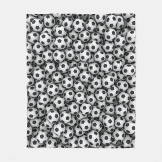 Soccer Balls Fleece Blanket