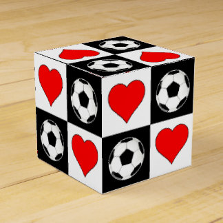 Soccer Balls & Hearts Gift Box for Soccer Players