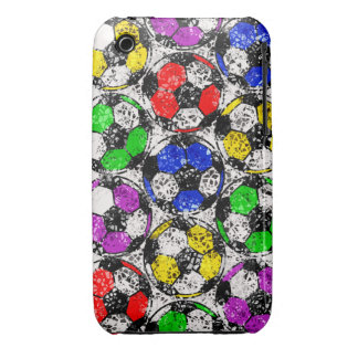 SOCCER BALLS IN CHAOTIC COLOR iPhone 3 COVER