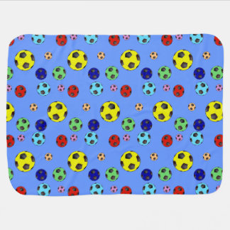 Soccer Balls In Many Colors Receiving Blanket