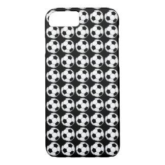 Soccer Balls on Black iPhone Case