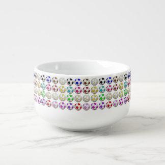 Soccer Balls Pattern Soup Mug