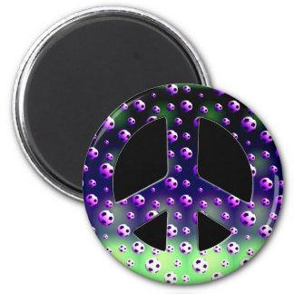 SOCCER BALLS PEACE SIGN MAGNET