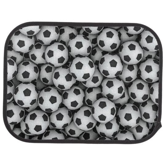 Soccer Balls Rear Car Mat