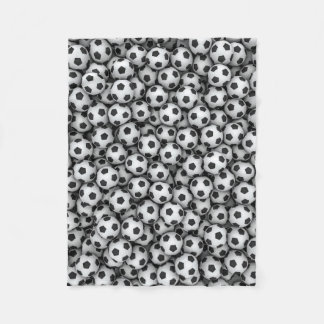 Soccer Balls Small Fleece Blanket