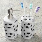 Soccer Balls Soap Dispenser And Toothbrush Holder