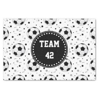 Soccer balls tissue paper