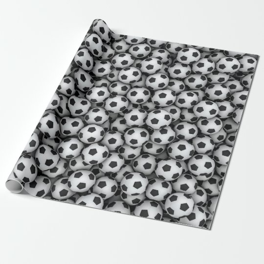 Soccer Balls Wrapping Paper