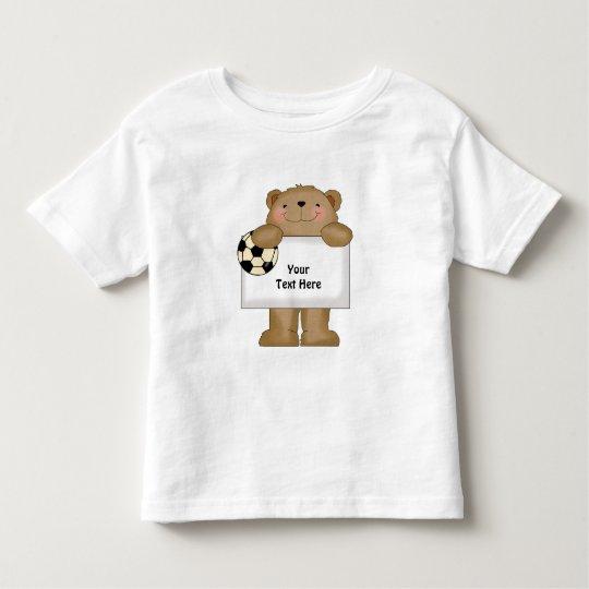 Soccer Bear (Customizable) Toddler T-shirt