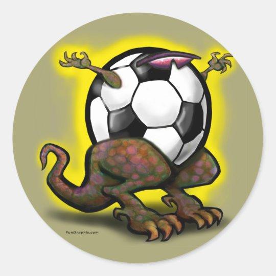 Soccer Beast Classic Round Sticker