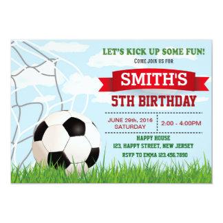 Soccer Birthday Invitation. Sport Invitation