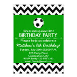 Soccer Birthday Party kids invitation customizable