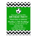 Soccer Birthday Party kids invitation customizable