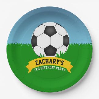 Soccer Birthday Party Paper Plate