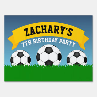 Soccer Birthday Party Sign