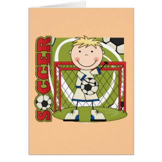 SOCCER - Blond Boy Goalie Tshirts and Gifts Card