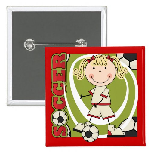 SOCCER - Blond Girl T-shirts and Gifts Pin