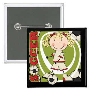 SOCCER - Blond Girl T-shirts and Gifts Pins