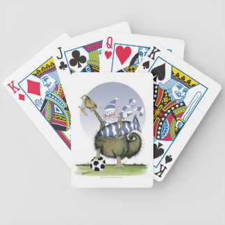 soccer blues kitty bicycle playing cards