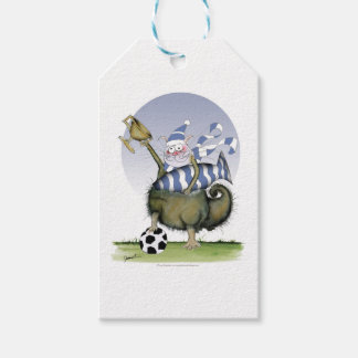 soccer blues kitty gift tags